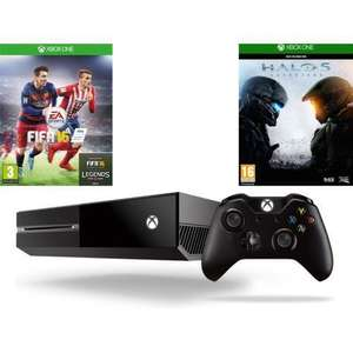 Console Microsoft Xbox one 500 Go + Fifa 2016 + Halo 5