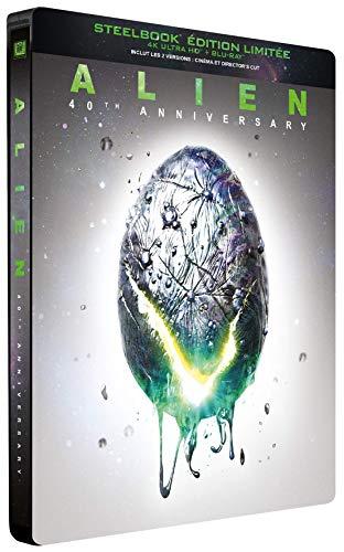 Coffret Blu-ray 4K Ultra HD + Blu-ray Alien - SteelBook 40ème Anniversaire (2 disques)