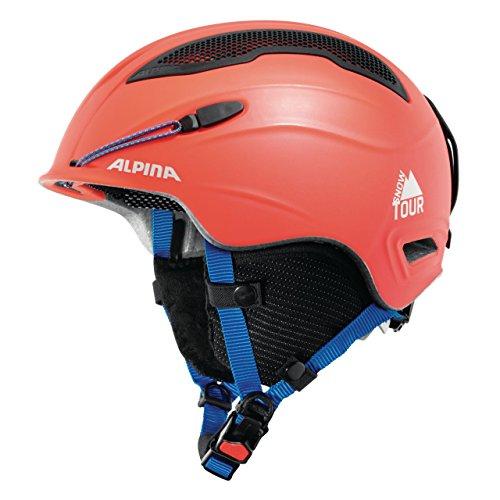 Casque Ski et Alpinisme Alpina Snow Tour - Rouge, Double Homologation