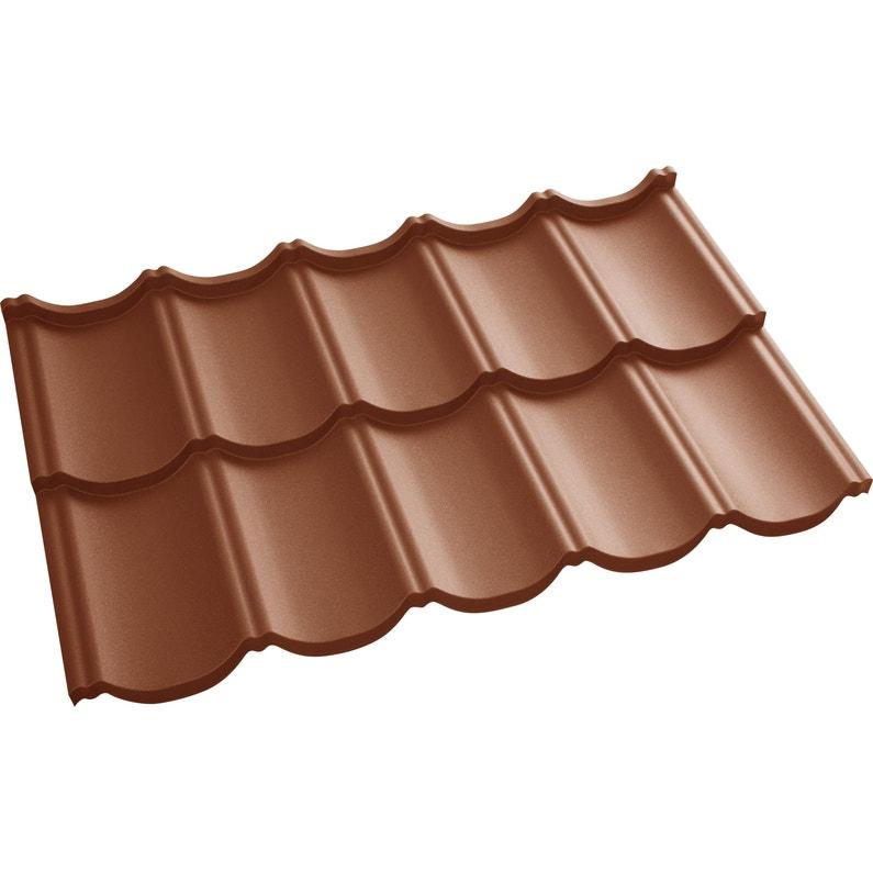 Plaque de toiture imitation tuile acier terracotta TUR'TUILE - 1.198x.0.7m