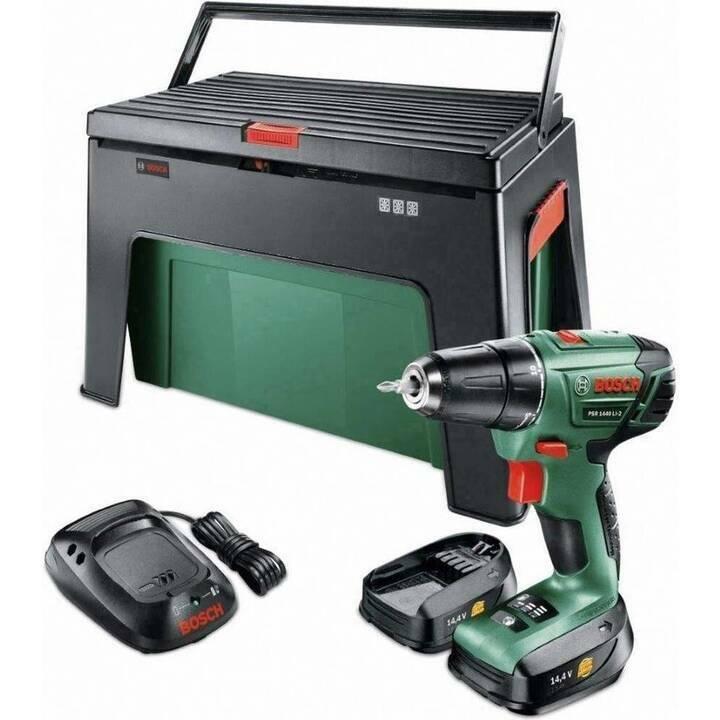 Pack Perceuse/Visseuse Bosch PSR 1440 Li-2 + Step & Work box (Frontaliers Suisse)