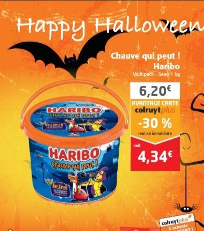 Seau de bonbons Haribo 1kg - 26 sachets (Colruyt)