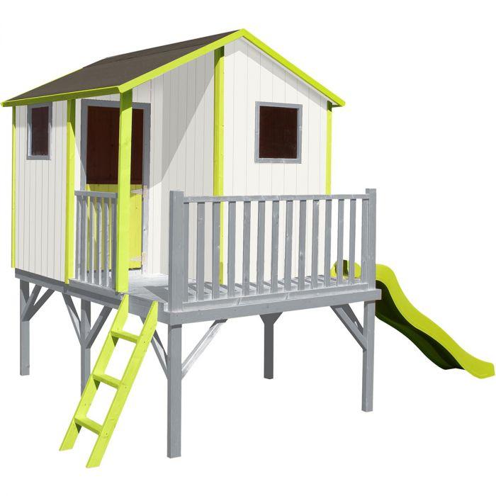 Cabane en bois pour enfant Tiphaine avec tobogan (soulet.com)