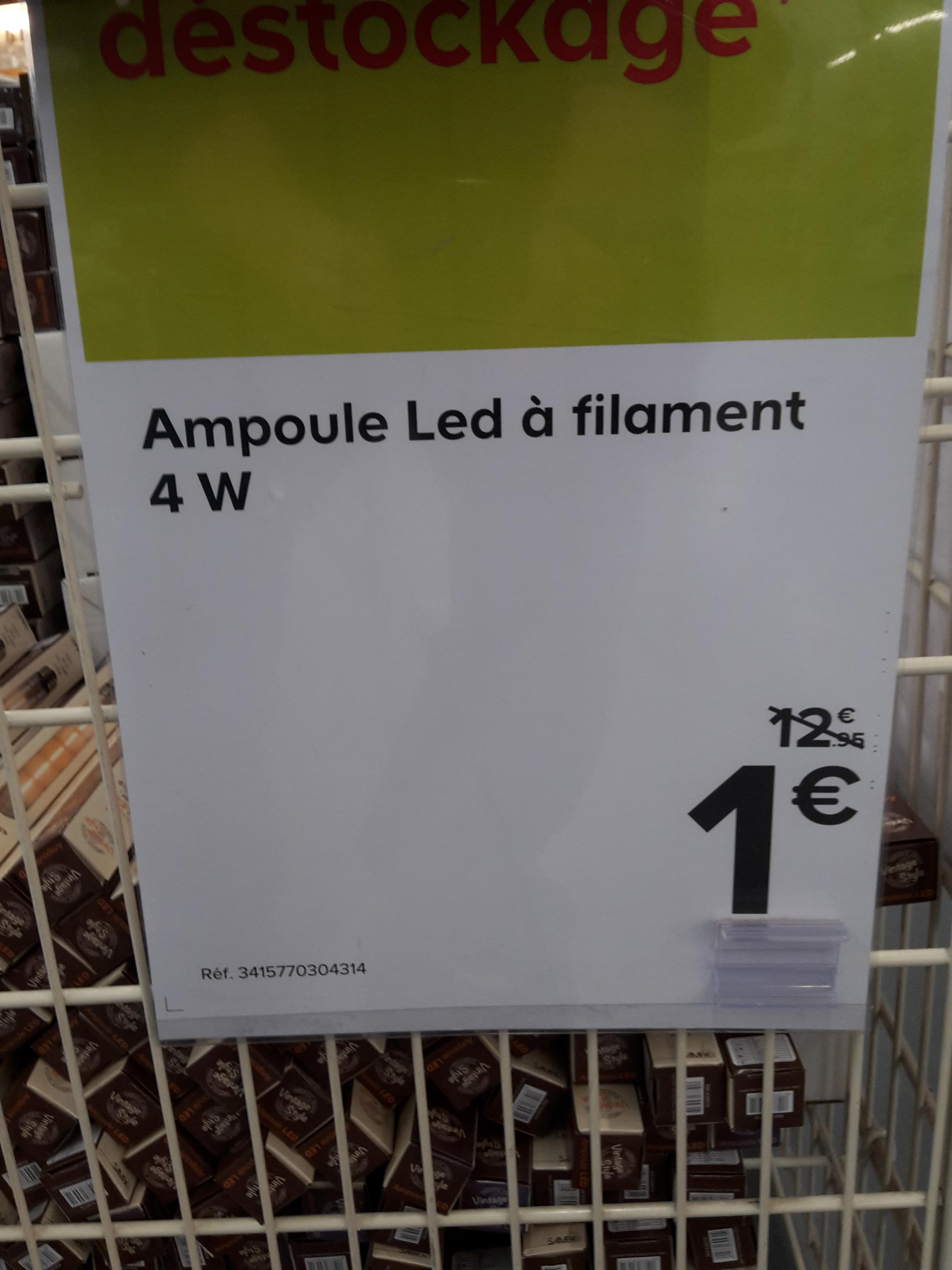 Ampoule à led à filament - 4W, Castorama Anglet (64)