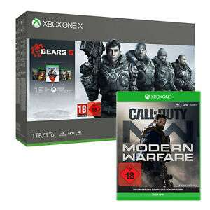 Pack Console Xbox One X - 1 To + Gears 5 ou The Division 2 + 1 Jeu au choix