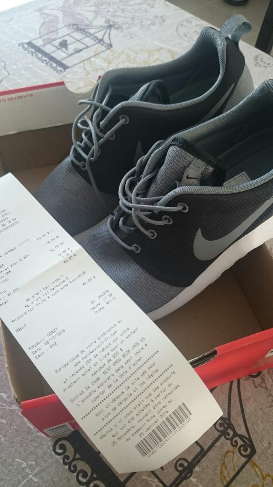 30% de réduction supplémentaires - Ex: Chaussures Nike Roshe One
