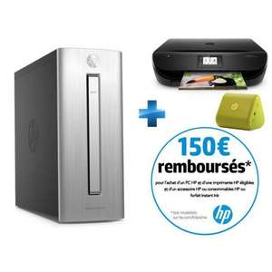 PC de bureau HP Envy 750-104nf - i7-6700, 8 Go, 1 To, GTX 970 + imprimante + Enceinte (via ODR de 150€)