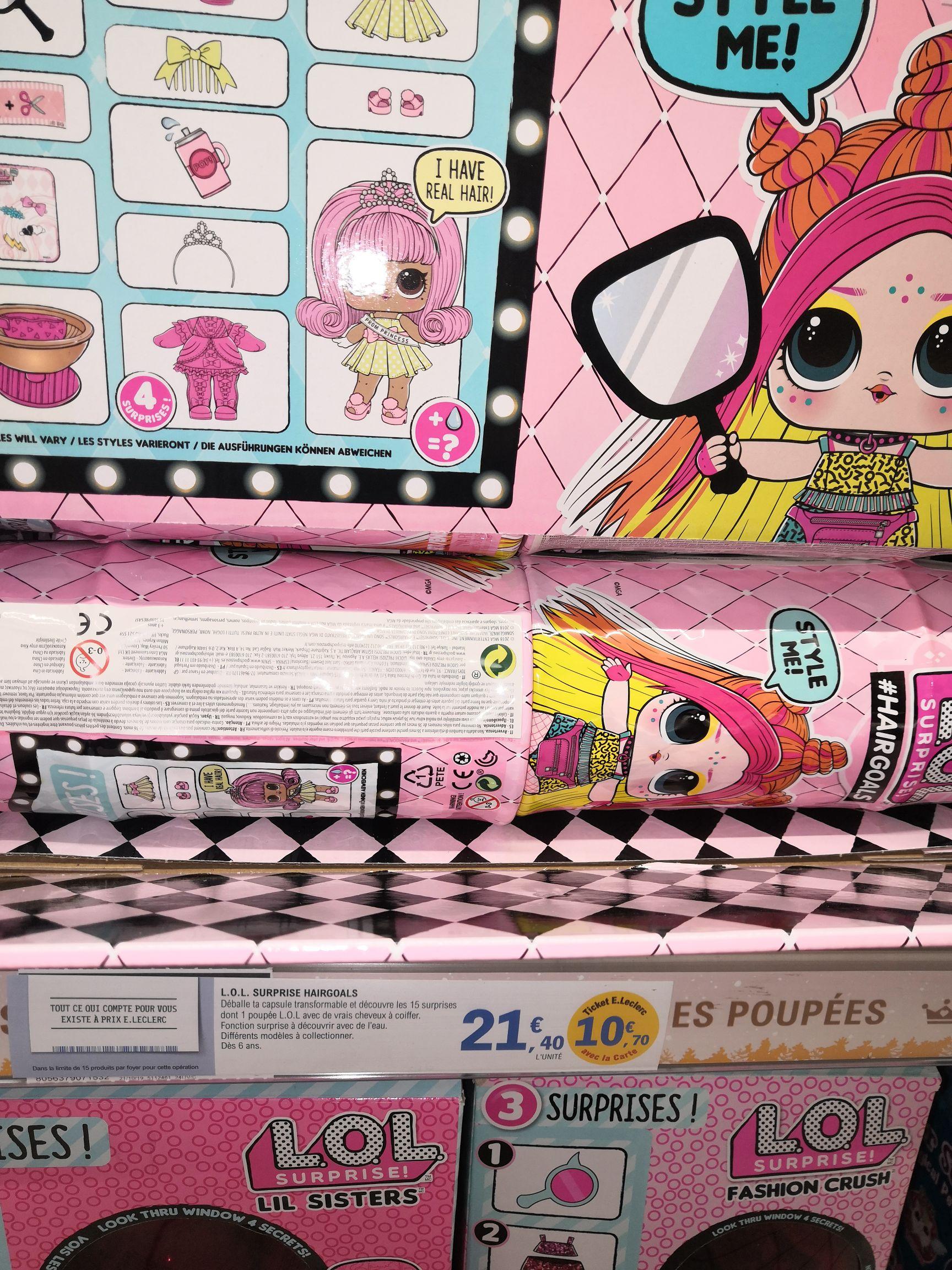 Poupée Lol hairgoals saison 2 pour enfant (Via 10,40€ sur la carte de fidélité)