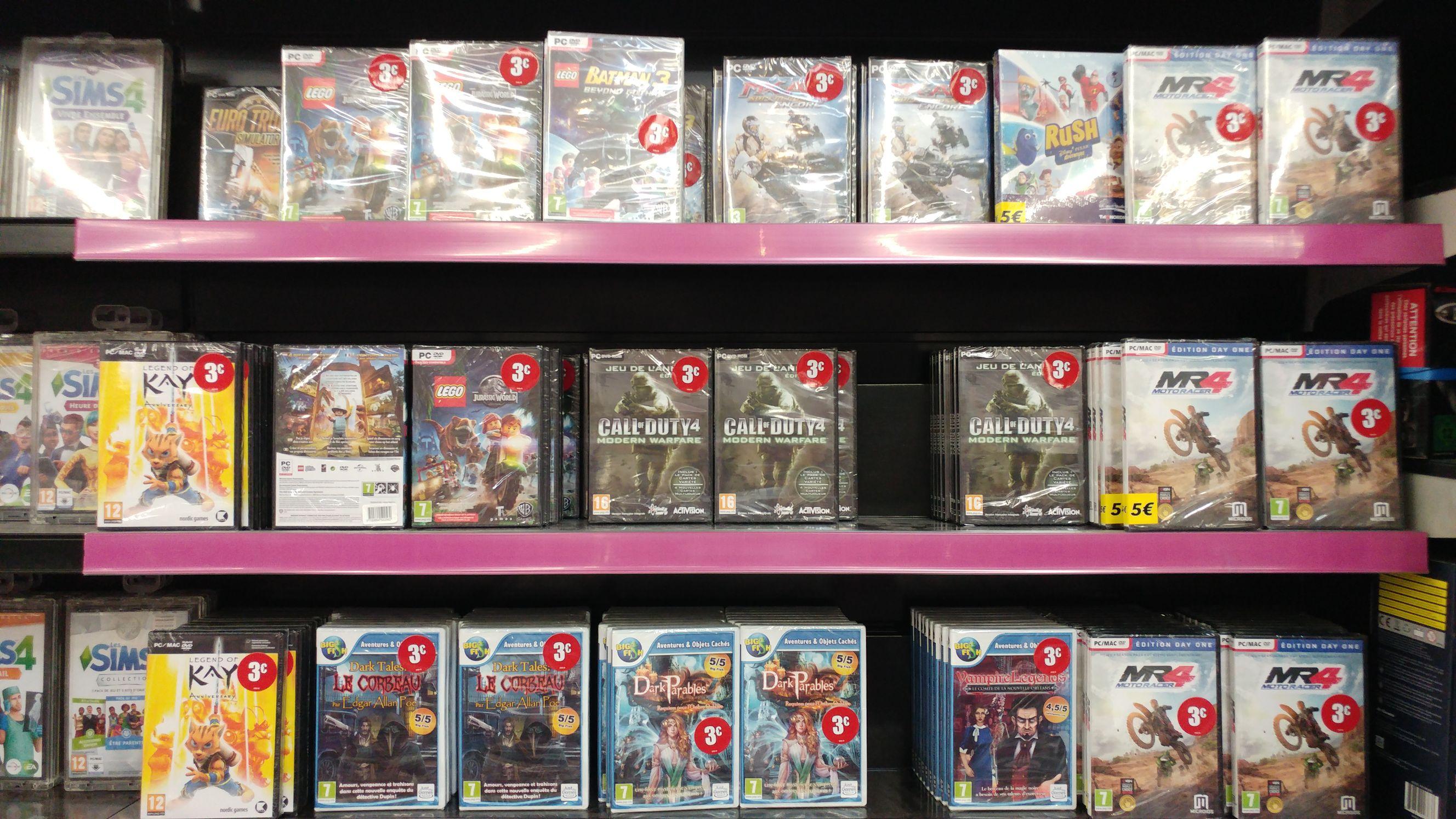 Sélection de jeux vidéo PC à 3€ - Ex: Call Of Duty 4 Modern Warfare sur PC - Meylan (38)
