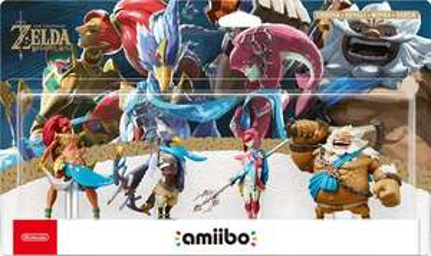 Pack Figurines Amiibo The Legend of Zelda Breath of the Wild : Urbosa + Revali + Mipha + Daruk