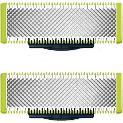 Lot de 2 Lames pour Rasoirs Philips OneBlade QP220/55 (le-comptoir-du-barbier.fr)