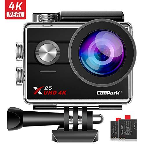 "Caméra Sportive Campark X25 - Ecran LCD 2"", 16MP, 4K 30fps (Vendeur Tiers)"