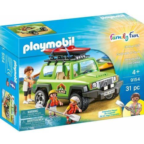 Jouet PLAYMOBIL 9154 - Family Fun: Camionnette et canoé