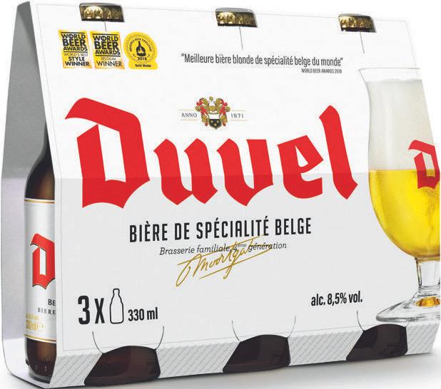 Pack de 6 bières blonde Duvel - 6x 33 cl