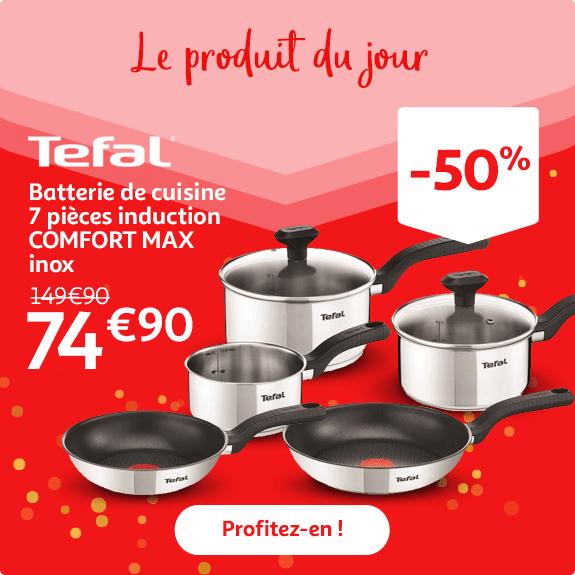 Batterie de cuisine Tefal induction Comfort Max - 7 pièces