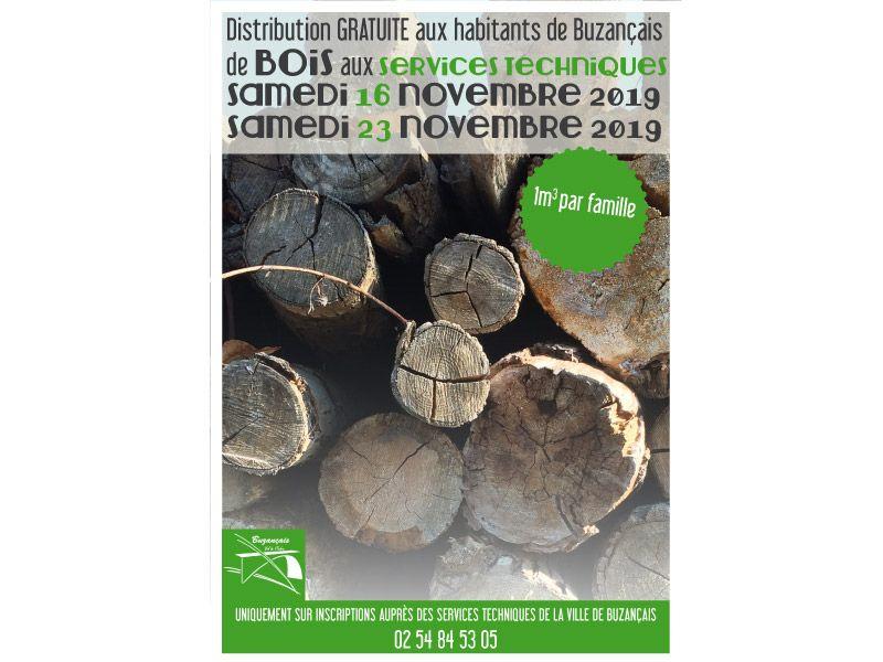Distribution Gratuite de Bois - Buzançais (36)