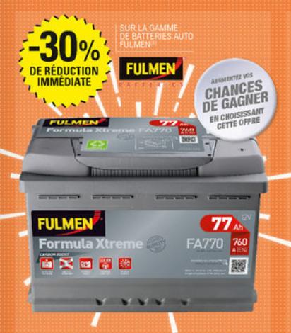-20% sur toute la gamme de batteries pour voitures Fulmen