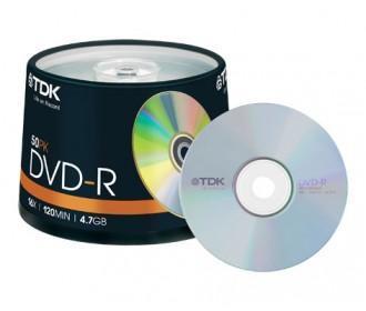Lot de 50 DVD-R TDK + 1BR VIERGE 50G offert pour toute commande d'un min de 20€