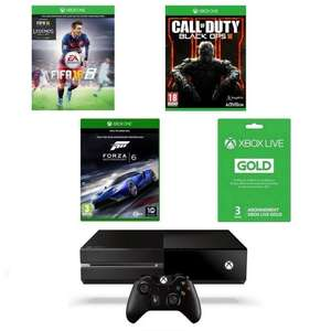 Console Microsoft Xbox One 500Go + FIFA 16 + Call of Duty Black Ops 3 + Forza Motorsport 6 + Abonnement Xbox Live Gold 3 Mois