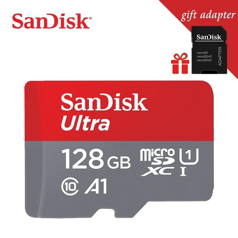 Sélection de cartes mémoires Sandisk microSDXC Ultra U1 A1 + Adaptateur SD - Ex: 128 Go