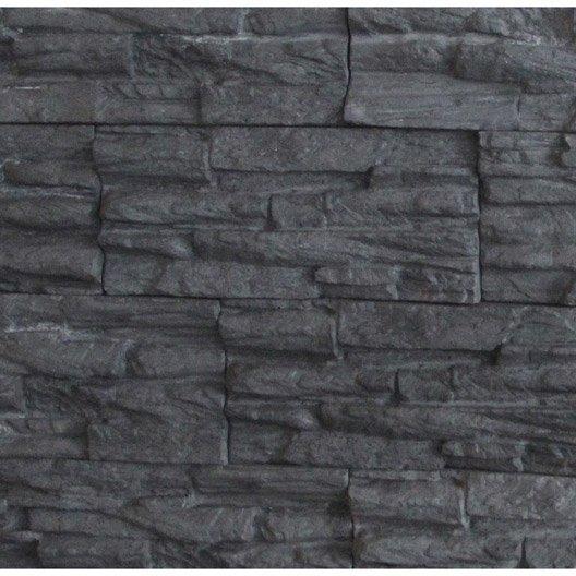 Plaquette de parement béton anthracite Olympus - Le m²