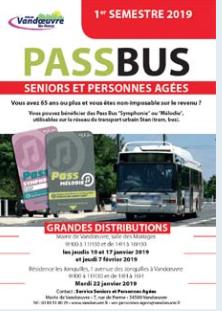 [Sous conditions] Distribution des pass bus aux séniors & personnes âgées de 65 ans et plus - Vandoeuvre (54)