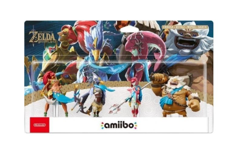 Pack 4 figurines Amiibo The Legend of Zelda: Breath of the Wild Collection (Urbosa + Daruk + Mipha + Revali) - Dans une sélection de magasin