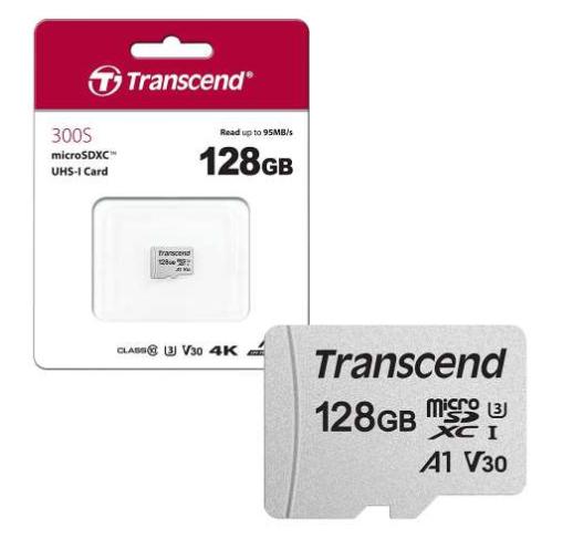 Carte mémoire MicroSDXC Transcend - 128 Go (Ou Lot de 2 = 27.6€)