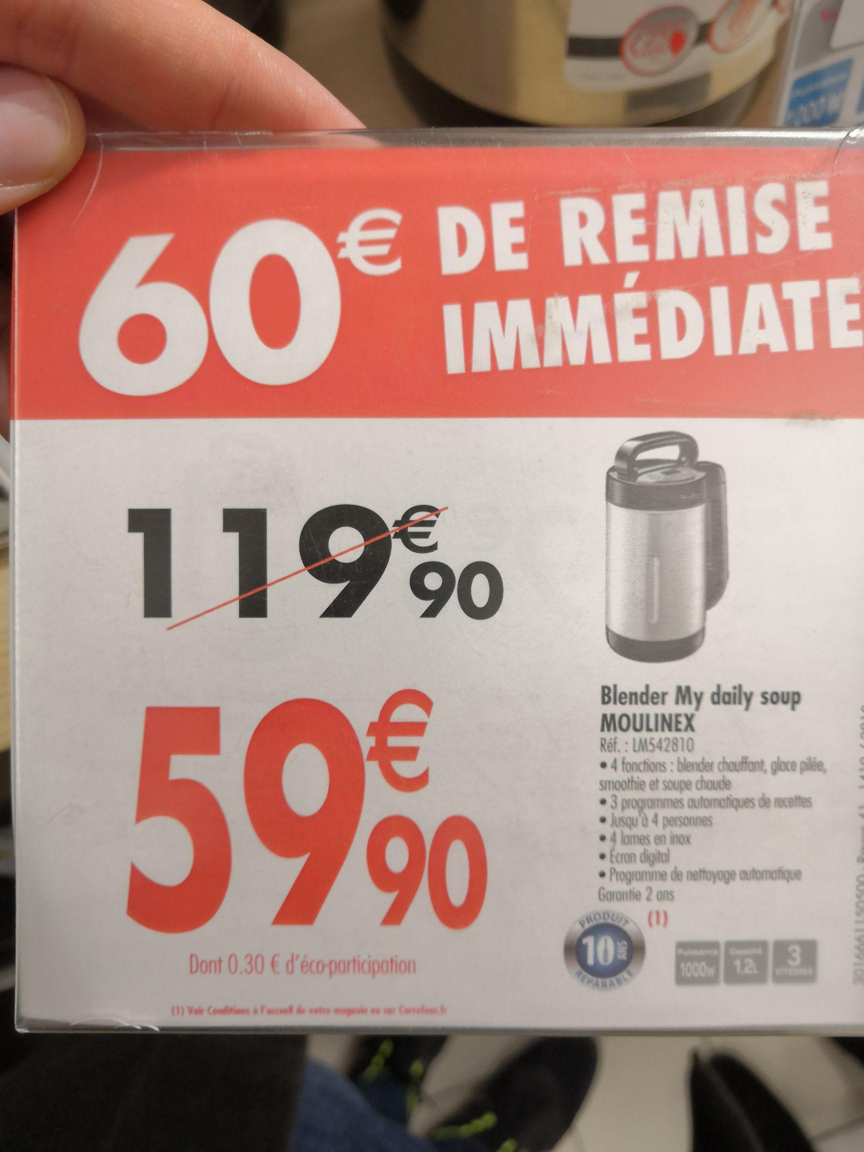 Blender Moulinex My Daily Soup - Carrefour M'ont Saint Aignan (76)
