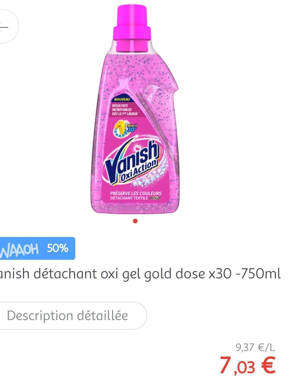 Détachant Vanish gel gold 750mL (via 3.52€ fidélité) - Auchan Roncq (59)