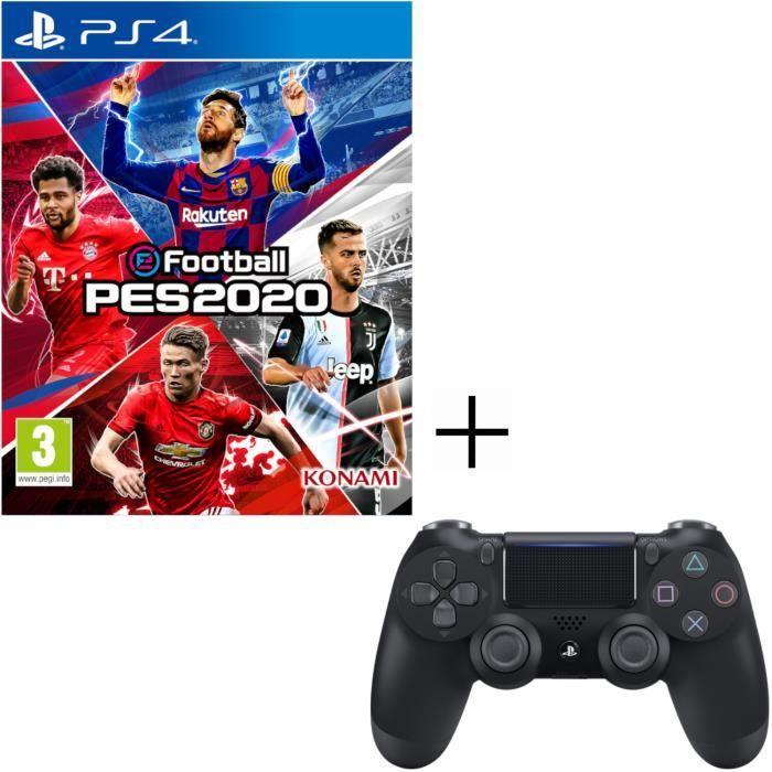 Pack eFootball PES 2020 sur PS4 + Manette PS4 Dualshock 4 + Voucher Fortnite
