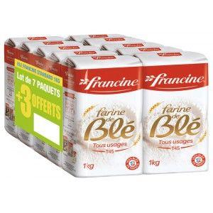 10 Paquets de farine de blé Francine - 10x1Kg