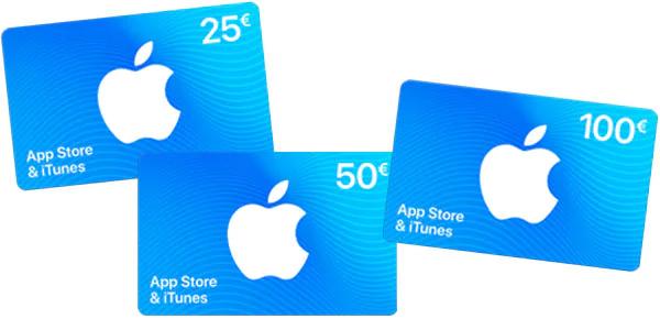15% de forfait bonus à l'achat d'une carte App Store & iTunes (Frontaliers Belgique)