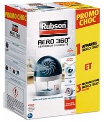 Absorbeur d'humidité Rubson Aero 360  + 3 recharges (via 8,95 € sur la carte fidélité)