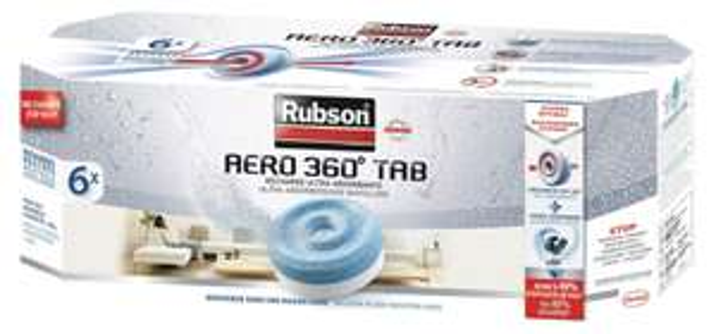 12 recharges neutres pour absorbeur d'humidité Rubson Aéro 360°