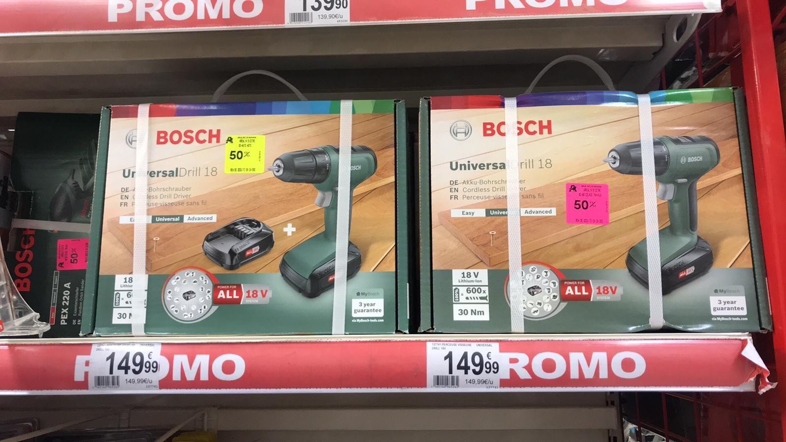 Perceuse Visseuse sans fil Bosch UniversalDrill 18 - Auchan le Kremlin Bicetre (94)