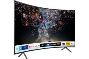 "TV 55"" Samsung UE55RU7305 (2019) - LED, Incurvé, 4K UHD, HDR 10+, PurColor, 1500 PQI, Smart TV (Via ODR de 100€ + 90€ bons d'achat)"