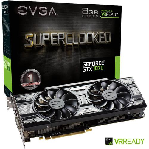 Carte graphique Evga Nvidia GTX 1070 SC Gaming ACX 3.0 - 8Go GDDR5 (Occasion)