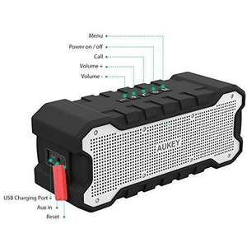 Enceinte Bluetooth Portable Aukey - IPX7 (Vendeur tiers)