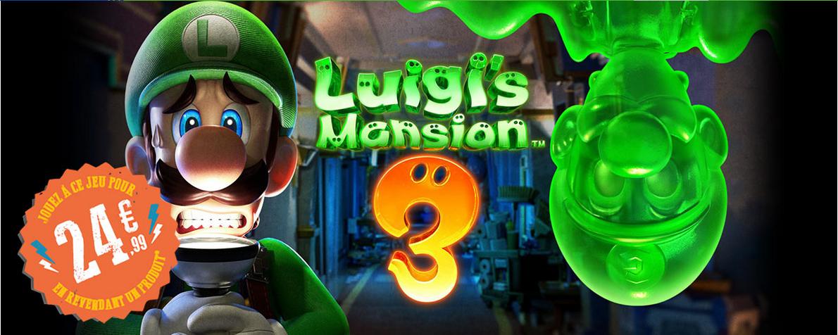 [Pré-commande] Luigi's Mansion 3 sur Nintendo Switch à 24.99€ pour la reprise d'un jeu vidéo parmi une sélection
