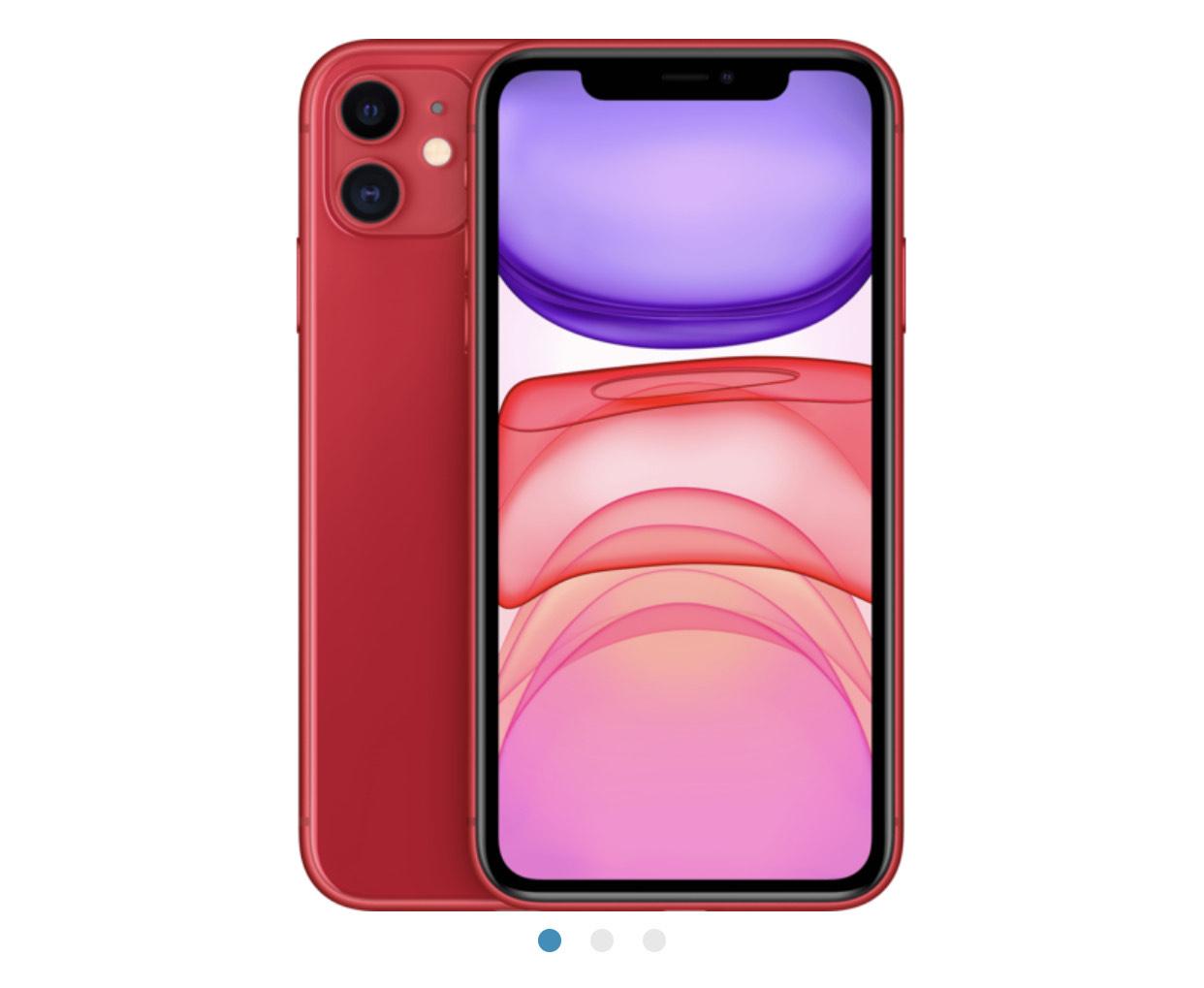"Smartphone 6,1"" iPhone 11 - 64 Go, Rouge (Vendeur Tiers)"