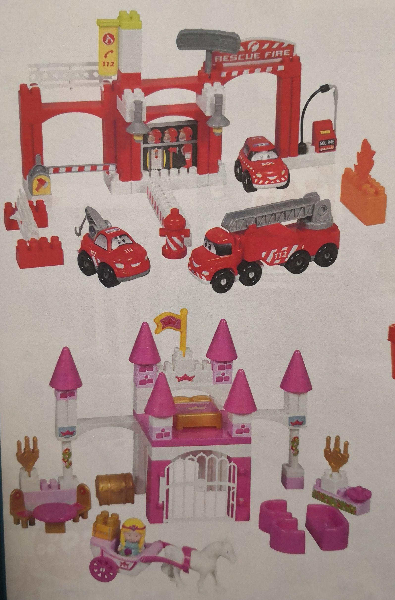 Jeu enfant Coffre de construction Abrick - Caserne de Pompier ou Palais Princier