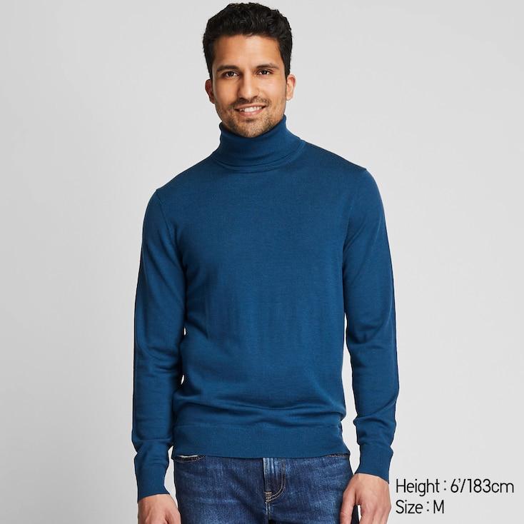 Col roulé mérinos 100% laine homme et femme Uniqlo