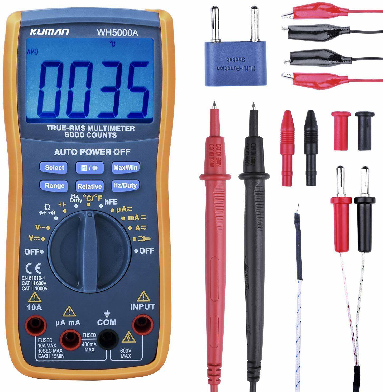 Multimètre Kuman WH5000A gammes automatiques avec Accessoires