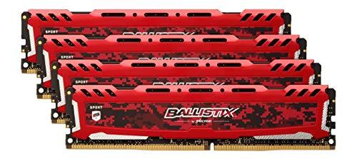 Kit Mémoire Crucial Ballistix Sport LT DDR4 32Go (4x8Go) - 3200Mhz, C16