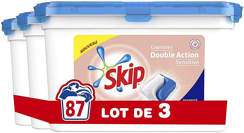Capsules de lavage Skip Double Action - 87 Lavages (Lot de 3x29 Capsules)