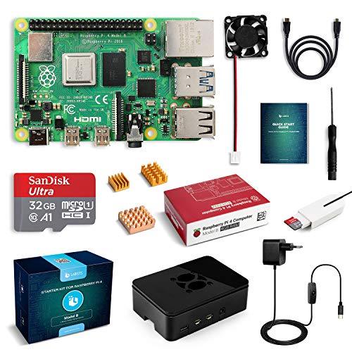 Kit Raspberry Pi 4 Modèle B - 4Go + Carte MicroSD 32 Go + Accessoires (vendeur tiers)