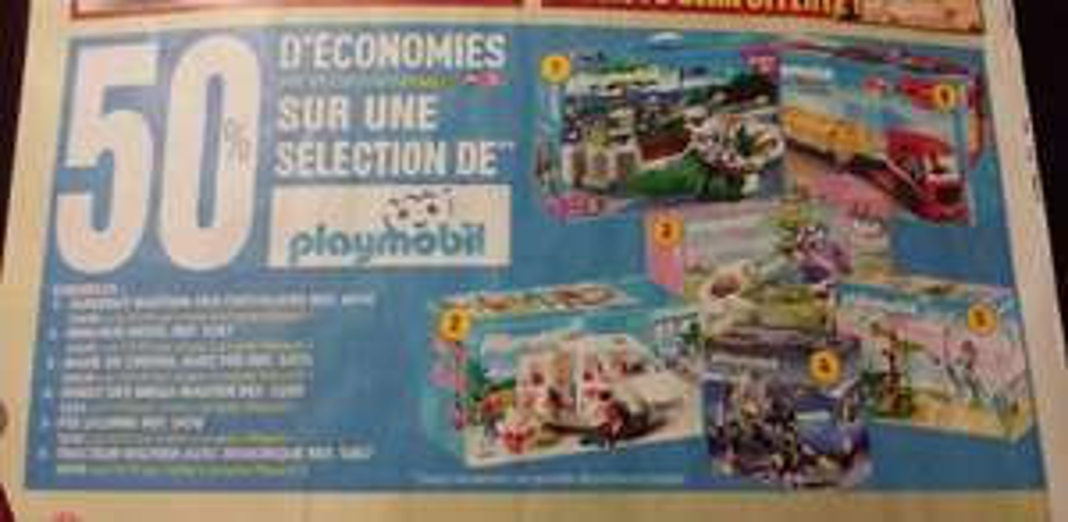 50% de remise sur la carte auchan sur une sélection de Playmobil - Ex : Tracteur routier avec remorque  (50% sur la carte)