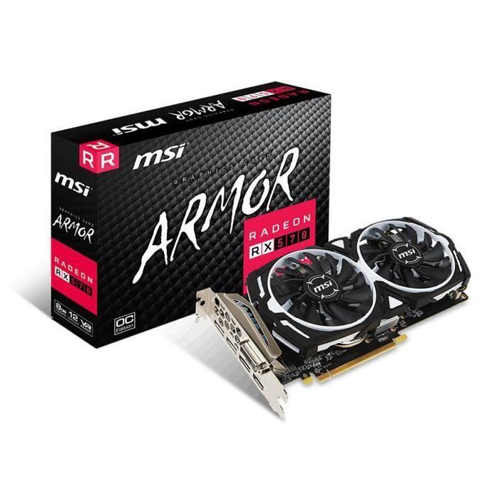 Carte graphique MSI Radeon RX 570 ARMOR 8G OC - 8 Go