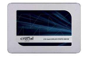 """SSD interne 2.5"""" Crucial MX500 - 1 To (+ 5.70€ offerts en SuperPoints)"""